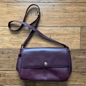 Eggplant Maroon Crossbody Bag Purse